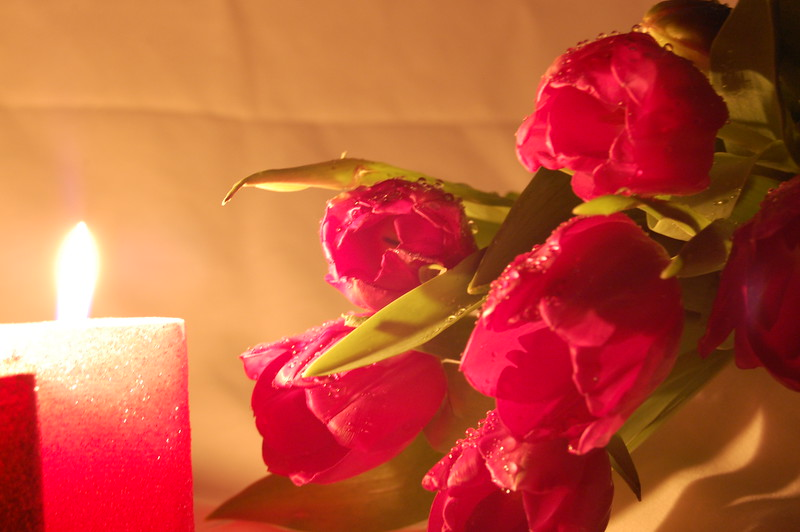 Romance by candle light