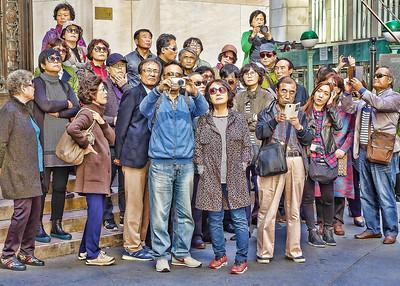 Tourists on Wall Street