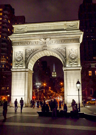 Washington Square at Night
