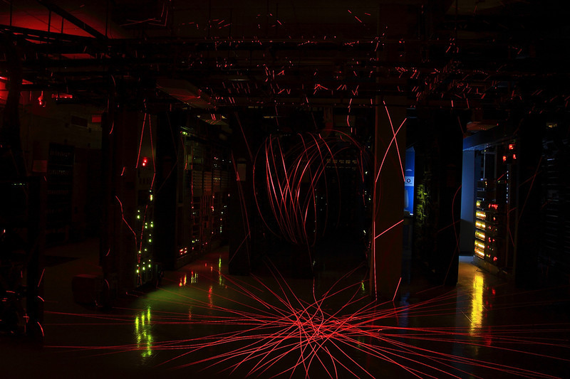 Office Laser Show!