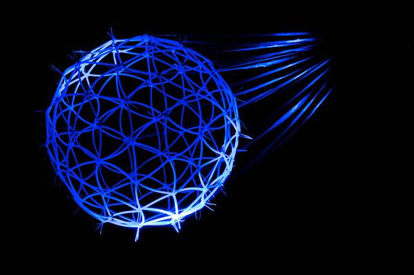 Blue Sphere rope art