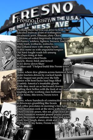Fresno Town poem print