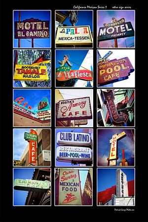 California Retro Mexican signage series