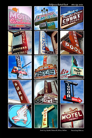 California Central Coast retro signage