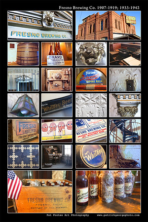 Old Fresno Brewing Co. photo montage
