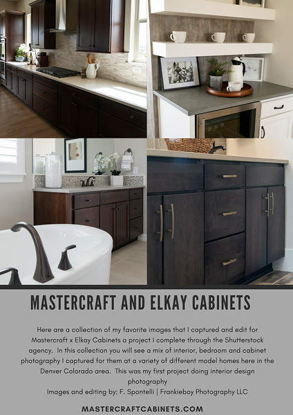 Mastercraft and Elkay Cabinets | Interior Design Photography and Cabinet Product Photography