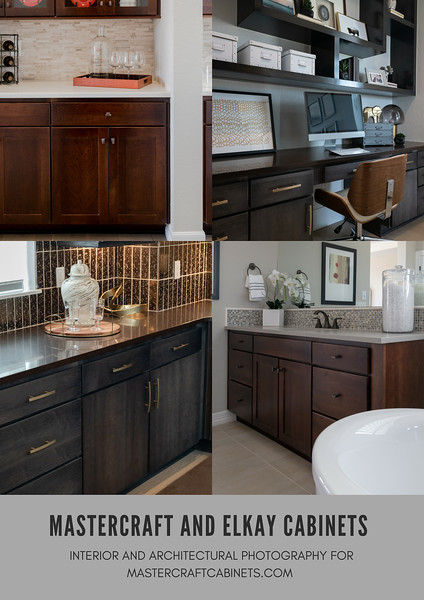 Interior and Architectural Photography | Additional Images: Mastercraft Cabinets and Elkay Cabinets