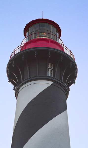 """The St. Augustine lighthouse was the last """"tourist site"""" I saw before leaving to visit the national parks in southern Florida:  Biscayne, Everglades, and Big Cypress.  April, 2016."""