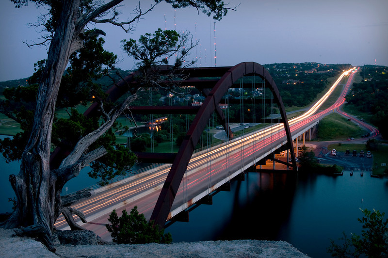 Austin 360 Bridge (Pennybacker Bridge) off of Capitol of Texas Highway.