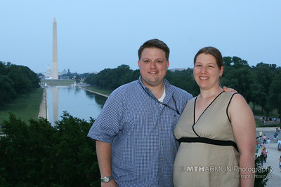 My wonderfully pregnant wife Patty and I at the Lincoln Memorial (Washington, DC)