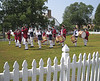 A fife and drum troop practiced on the village green at the Yorktown Historic Site--August, 2008.