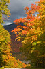 The autumn color was at it's peak in northern Vermont and New Hampshire at the time I was there. Absolutely spectacular!! This is the drive down Mt. Washington and the valley at the base. October, 2009.