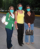 These young women were out on the town in Mexico City the Saturday night of the swine flu announcement and closures. We went to 3 restaurants that evening before we found one open for business and it closed while we were there. April, 2009.
