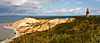The Aquinnah Cliffs seem to be the prominent natural feature on Martha's Vineyard. However, to preserve them there is restricted access, so this is as close as most tourists get. October, 2009.