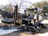 This RV fire was caused by a problem that my RV had a recall on. I was glad I'd had it repaired. January, 2009.