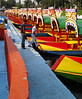 A few of the many boats waiting for work at the Xochimilco Floating Gardens. April, 2009.