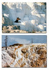 The top image was snapped when I visited Mammoth Hot Springs at Yellowstone NP in 1987. Almost 25 years later the same spot looks like the lower photo. The earth is always changing, perhaps more rapidly in the thermal areas. August, 2011.