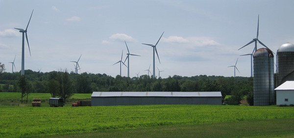 The first of many wind farms I passed, this one in up-state New York.  July, 2012.