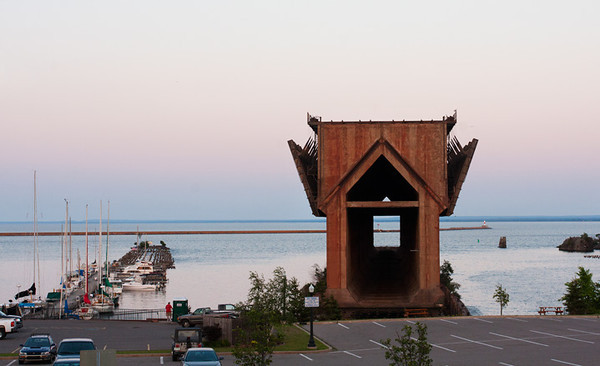 I'm still impressed by this structure in Marquette Harbor for loading grain (and whatever) on ships.  It's retired now and there's a different one out by Presque Isle Park.  July, 2012.