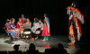 The next day I went back to see the young people's dance performance, which was beautiful.  Here the women are singing the Strong Woman's Song, which they dedicated to me (I didn't go on stage – no more walking in a dark theatre).  August, 2015.