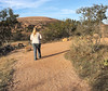 Amber is walking toward the very large Enchanted Rock (which we did not climb) north of Fredericksburg. We also checked out the shopping in town as she had heard about it in Wichita before she left there. January, 2015.