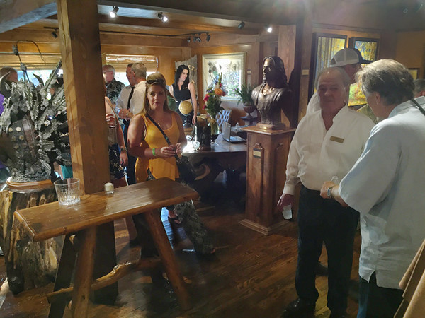 The monthly Whitefish Art Walk recently included the Grand Opening of the Sunti Gallery featuring several international artists along with Montana artists. The smell of fresh varnish met me at the door. There were 12 galleries open that evening, but I missed a couple. Nice night out. July, 2015.