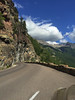We also drove MANY curvy, mountain roads.  This is the Going To The Sun Road from the West Glacier entrance. July, 2015.