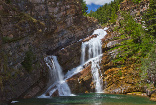 Okay, I couldn't resist sharing one more photo of my favorite waterfall.  Cameron Falls in Waterton Lakes, AB. July, 2015.