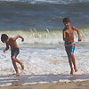 The kids, grandkids, and I went to Avon on the Outer Banks of NC for the weekend.  Here, waves chase Will and Jack to the beach.  They spent 2 and a half sunny days romping in the surf.  August, 2017.