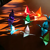Happy Vernal Equinox!  To celebrate I made and shared these origami cranes as The Group sat around an invisible bonfire in the evening (it was too windy for fire).  It is also International Happiness Day.  March, 2017.