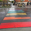 The crosswalk at the Missoula Art Museum grabbed my attention in the rain.  Nice touch!  October, 2018.