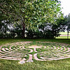 The women who owned Camp America near Salem, SD have sold the campground and will be missed.  I've stayed there several time since 2003 as it's a lovely rural site, very peaceful. Part of that is this meditation labyrinth they created that I walk every visit.  It's good practice for my balance, too. June, 2018.