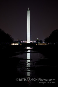 Washington Monument and reflecting pool (without water - doh!).