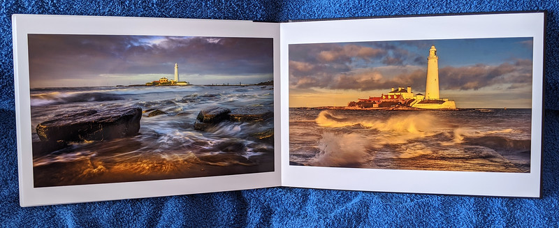 More inside pages printed on a thick high gloss card.