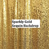 Sparkly Gold Sequin Backdrop