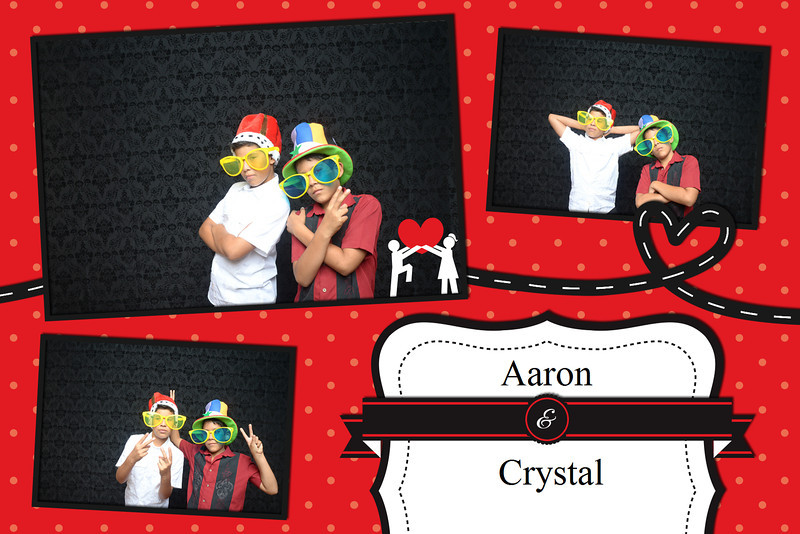 Aaron & Crystal Wedding Photo Booth