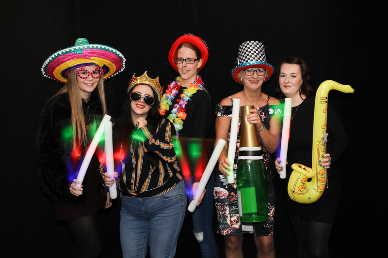 Colourful photo booth photo