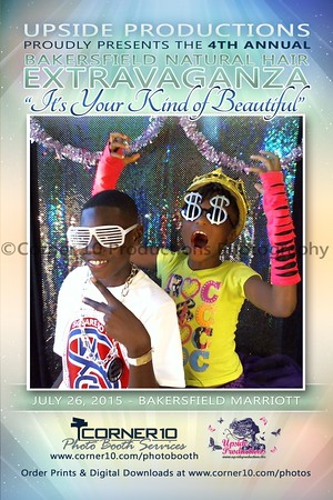 Corner 10 Photo Booth at the 4th Annual Bakersfield Natural Hair Extravaganza