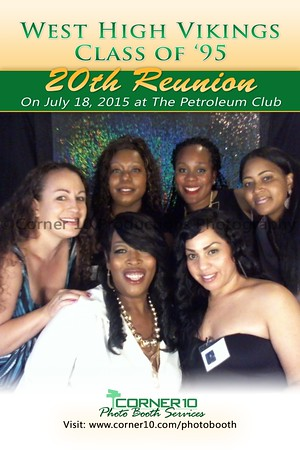 Corner 10 Photo Booth at the West High School 20 Year Reunion