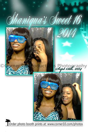 Corner 10 Photo Booth at Shaniqua's Sweet 16 Birthday Party