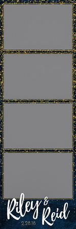 Midnight Watercolor - 2x6 - 4 Photo - Portrait