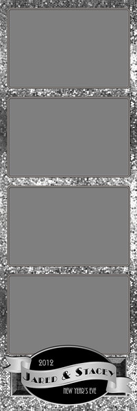 Glitterific Silver - 2x6 - 4 Photo - Portrait