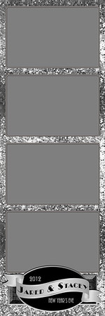 Glitterific Silver - 2x6 - 4 Photo - Portrait