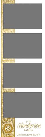 Winter Shimmer - Gold Foil - 2x6 - 4 Photo - Portrait
