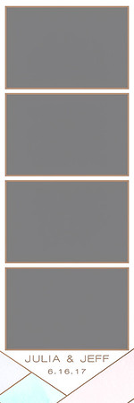 Watercolor Geometric - 2x6 - 4 Photo - Portrait