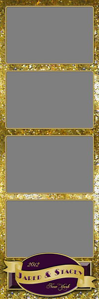 Glitterific Gold - 2x6 - 4 Photo - Portrait