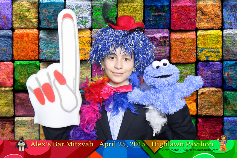 Photo Booth for Alex's Bar Mitzvah Party Highlawn Pavilion NJ