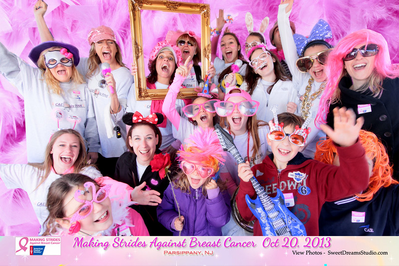 breast cancer fundraiser photography booth NJ NY