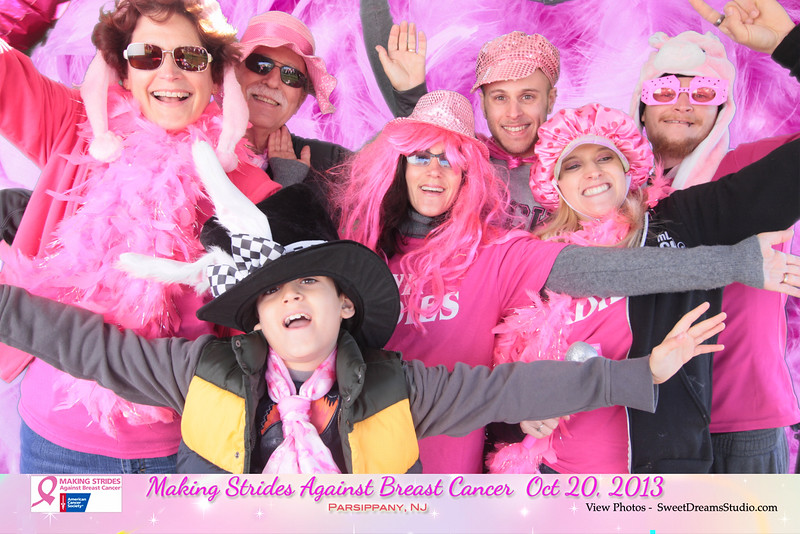 photo booth rental making strides against breast cancer NJ