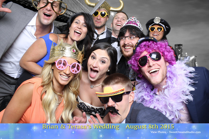 Photo Booth for Brian Terasa Wedding Party at L'Affaire NJ